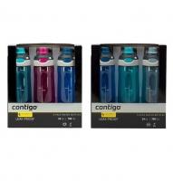 Contigo 运动防漏水杯 709ml(玫红 深蓝 淡绿三只装)