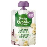【超市采购】Only Organic 宝宝有机香蕉香草酸奶果泥 1-5岁 100g(Banana Vanilla)