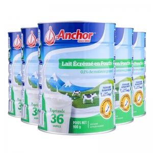 【新西兰直邮包邮】Anchor安佳罐装 900g/罐 脱脂(6罐装) 保质期至2020年6月