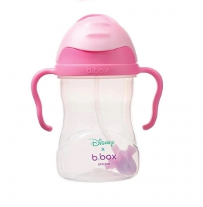 B.box 儿童/宝宝重力防漏学饮杯 240ml 迪士尼-睡美人公主款 粉色盖