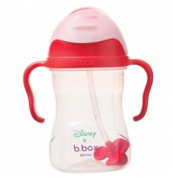B.box 儿童/宝宝重力防漏学饮杯 240ml 迪士尼-米妮老鼠款 粉色盖
