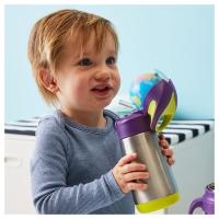 B.box 儿童不锈钢保温吸管杯 350ml-海水蓝