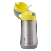 B.box 儿童不锈钢保温吸管杯 350ml-柠檬黄