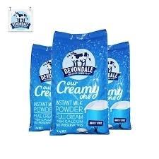 【新西兰直邮包邮】Devondale 德运 全脂奶粉 1kg(3袋装) 保质期至20.11